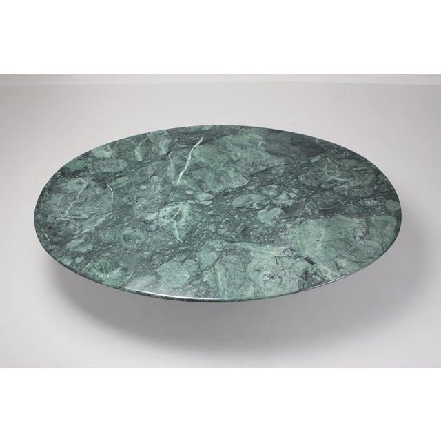 Green Carlo Scarpa Dining Table 'Samo' in a Rare Green Marble For Sale - Image 8 of 11