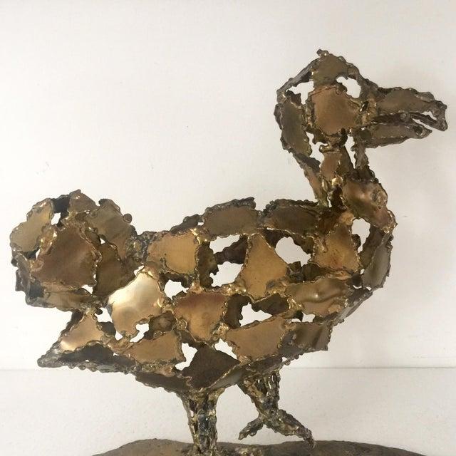 Silas Seandel Brutalist Brass Sculpture - Image 3 of 8