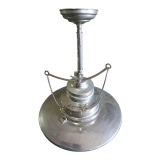 Late 20th Century Mid Century Modern Style Nickel Plated Ceiling Fixture For Sale