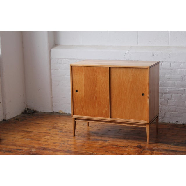 Restored 1950s Mid-Century Modern Paul McCobb Planner Group Mini Credenza Cabinet For Sale - Image 9 of 13