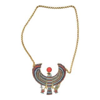 Egyptian Horus Pendant on Chain For Sale