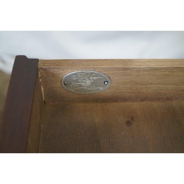 Baker Vintage Walnut Regency Directoire End Table - Image 8 of 10