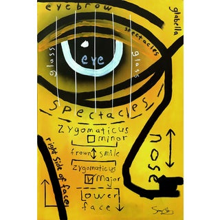 """Original Figurative Artwork by Soren Grau, """"Partial Face"""" For Sale"""