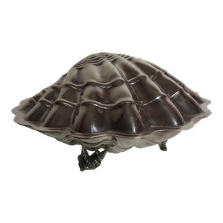 Silver Plate Clam Shell Box