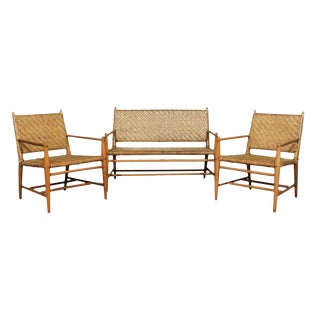 Exceptional Modern Seating Set by Russel Wright for Old Hickory, Circa 1940 For Sale
