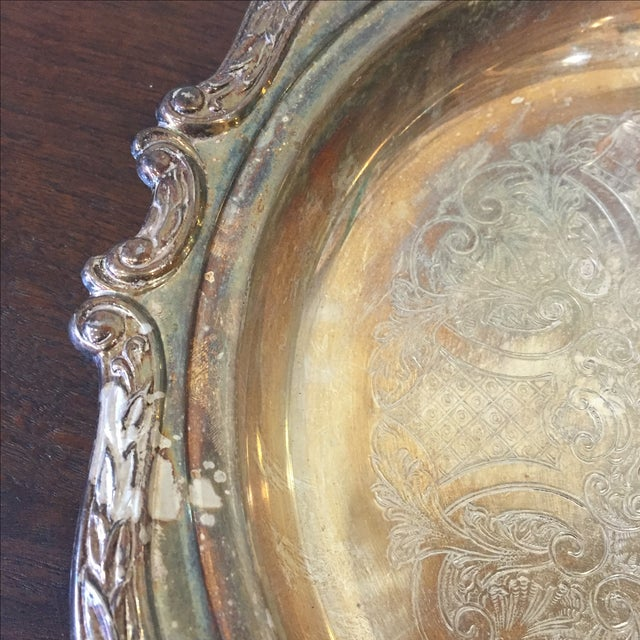 Silver Plated Dish - Image 4 of 7