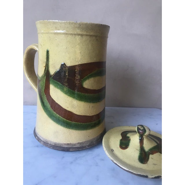 19th Century Lidded Jaspe Pitcher For Sale - Image 11 of 12