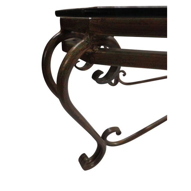Hollywood Glam Wrought Iron and Glass Coffee Table - Image 5 of 5