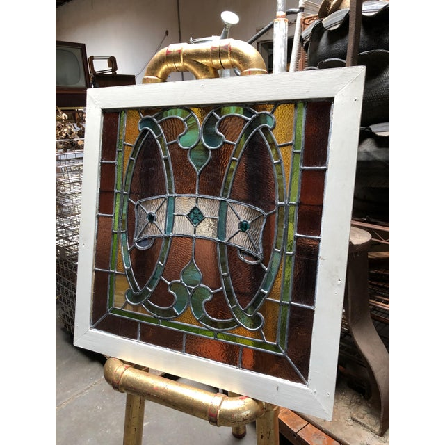 Original vintage framed stained glass pieces I've considered *adopting* as my own *family/hood crest, so striking and...