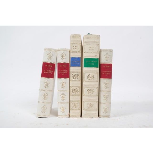 Set of five leather bound books printed in Scandinavia in the 1960's.