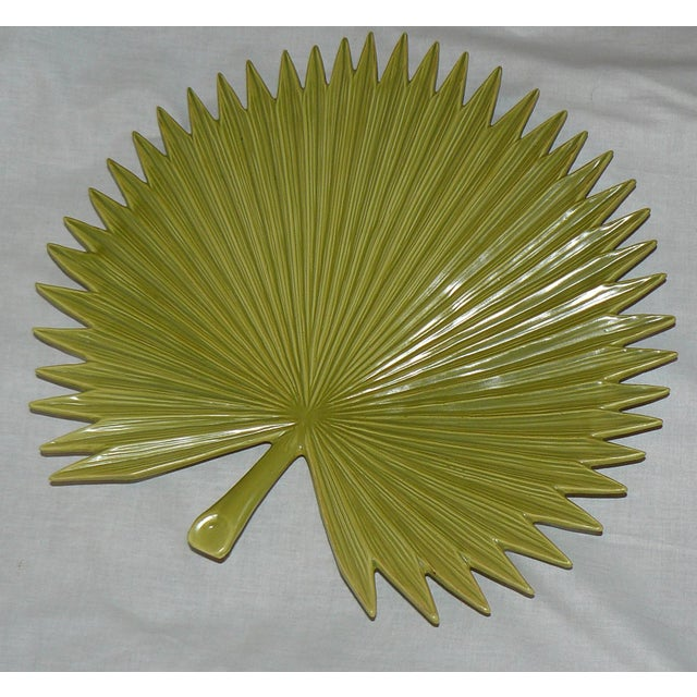 Late 20th Century Global Views Palm Leaf Platter With Feet For Sale - Image 5 of 9