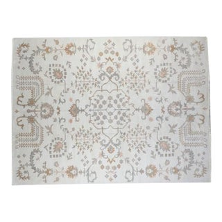 "Traditional Handmade Wool Oushak Rug - 10'3"" x 13'9"""