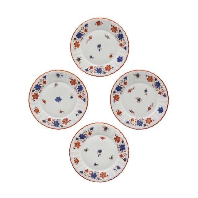 Antique German Porcelain Floral Dessert or Salad Plates - Set of 4 For Sale - Image 9 of 9