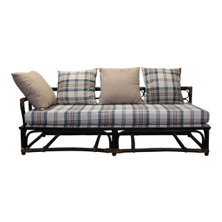 Mid 20th Century Ficks Reed Rattan Day Bed Sofa by John Wisner For Sale