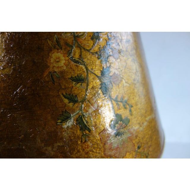 Golden Hand Painted Lamp - Image 6 of 8