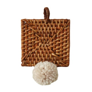 "Christmas Tree Ornament ""Kota"" - With Blushed Ivory Pom-Pom For Sale"