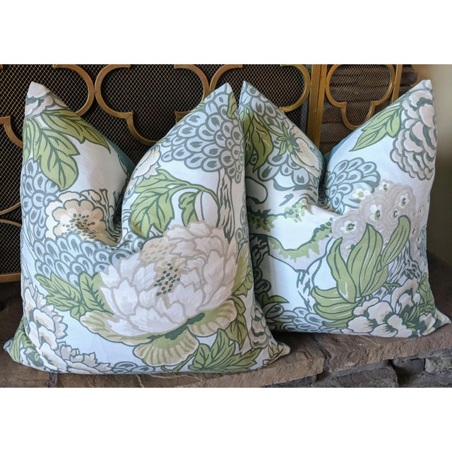 Thibaut Chinoiserie Honshu by Thibaut Pillows - a Pair For Sale - Image 4 of 4