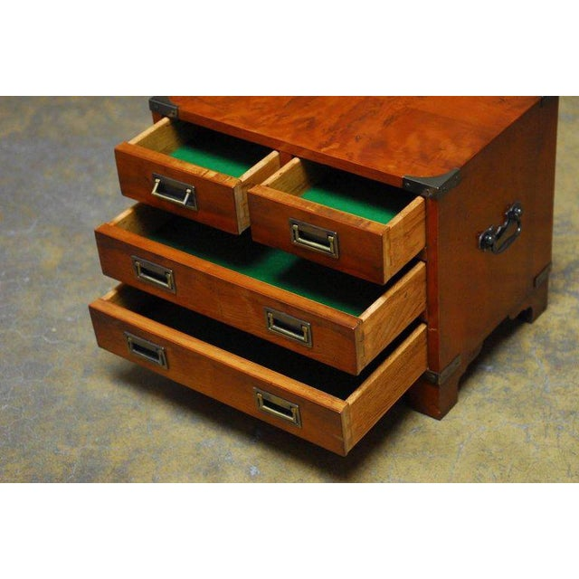 Diminutive Campaign Style Chest or Dresser by Hekman - Image 6 of 9