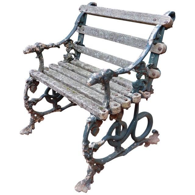 Coalbrookdale Antique Cast Iron Garden Chair For Sale