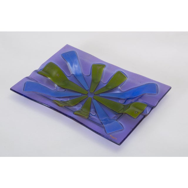 Mid Century Modern Glass Ashtray by Higgins For Sale In Los Angeles - Image 6 of 13