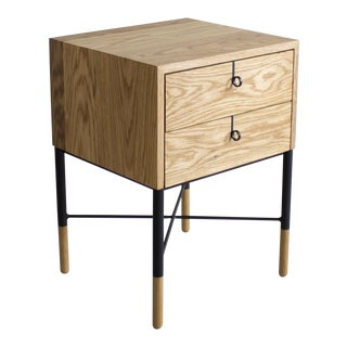 Phillip Nightstand Double Drawer For Sale