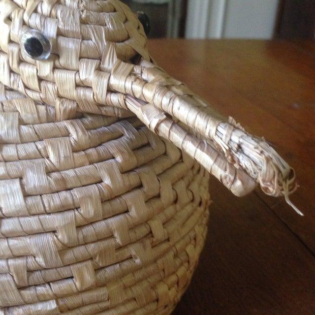 Vintage Natural Wicker/ Straw Bird Basket - Image 7 of 11