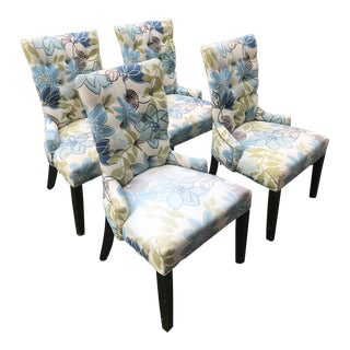 Vintage Floral Print Dining Chairs - Set of 4 For Sale
