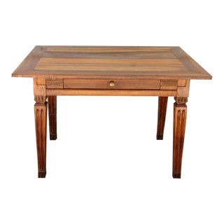 Late 18th Century Italian Neoclassical Fruitwood Table For Sale