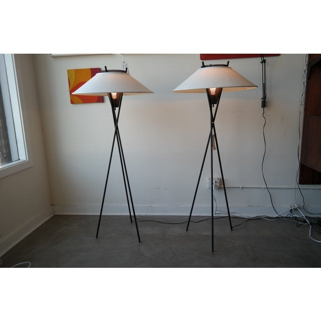 Gerald Thurston Tripod Floor Lamps - Pair - Image 2 of 6