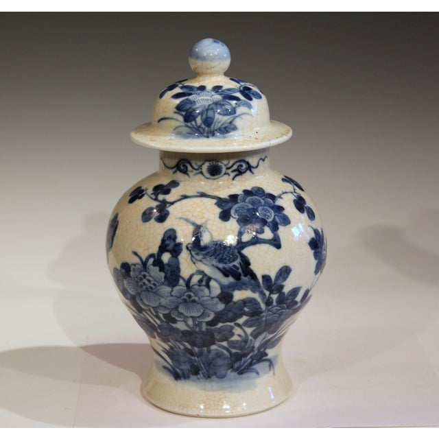 Antique 19th Double Circle Mark Chinese Blue & White Porcelain Jar Cover Vase For Sale - Image 12 of 12