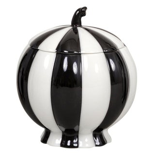 """Melon"" Sugar Pot by Josef Hoffmann Black"