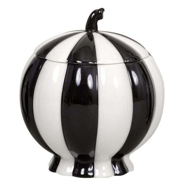 """Melon"" Sugar Pot by Josef Hoffmann Black For Sale"