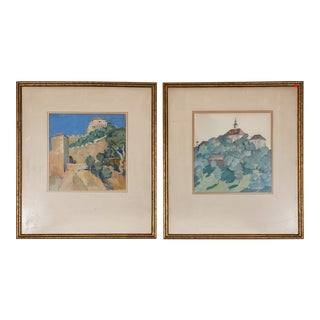 Fritz Jaeger Paintings - A Pair For Sale