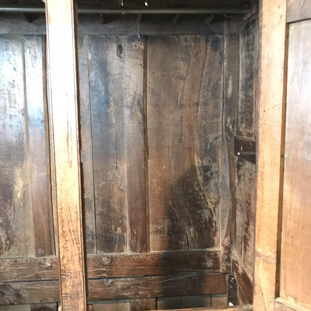 Brown Antique English Paneled Oak Coffer Blanket Chest For Sale - Image 8 of 13