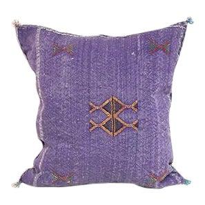Kim Salmela Purple Cactus Silk Pillow