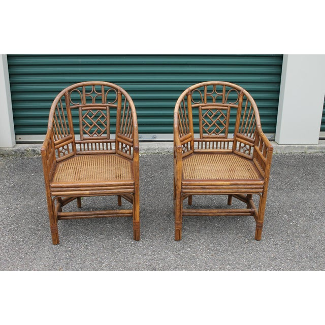 Chinoiserie Bamboo Rattan Brighton Pavilion Chairs - a Pair For Sale - Image 9 of 9