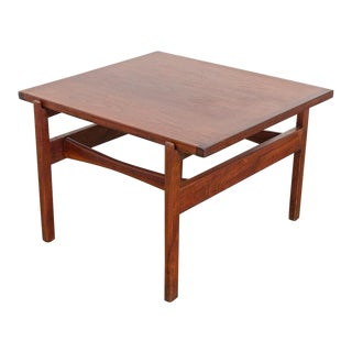 1950s Jens Risom Walnut End Table For Sale