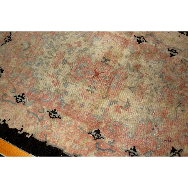 Asian 1920s Hand Made Antique Art Deco Chinese Rug - 2′10″ × 4′10″ For Sale - Image 3 of 6
