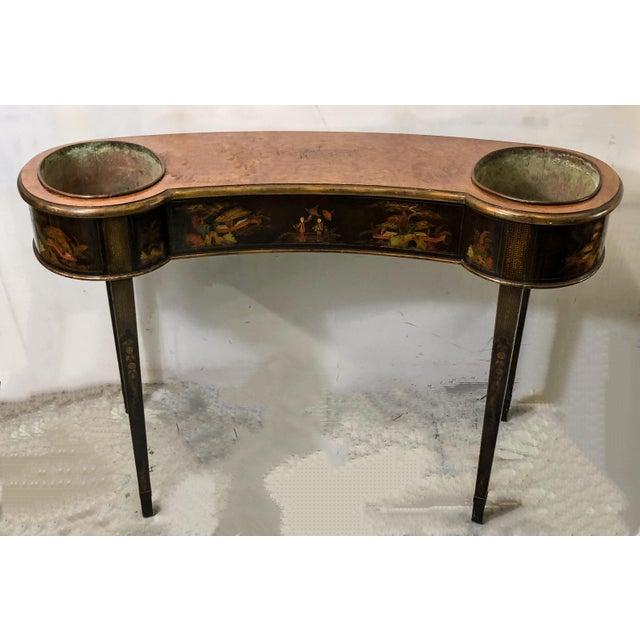 Schmieg & Kotzian Chinoiserie Console Table / Planter - Image 4 of 7