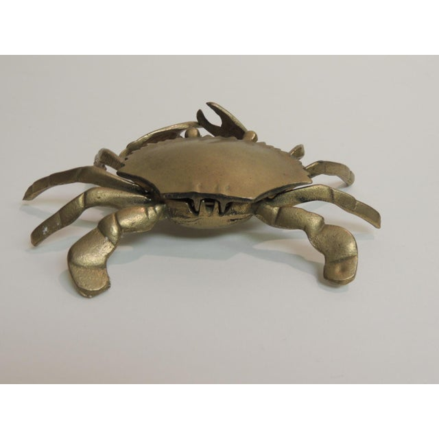Vintage Brass Articulated Crab Box - Image 3 of 4