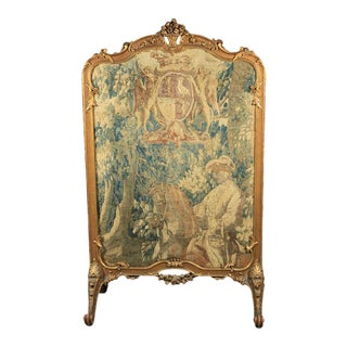 French Rococo Style Fire Screen For Sale