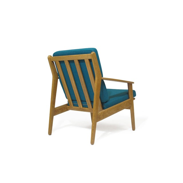 1950s Poul Volther Danish Oak Lounge Chair For Sale - Image 5 of 5