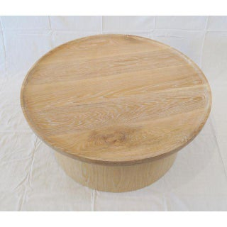 Modern Round Coffee Table in Cerused Oak by Martin and Brockett Preview