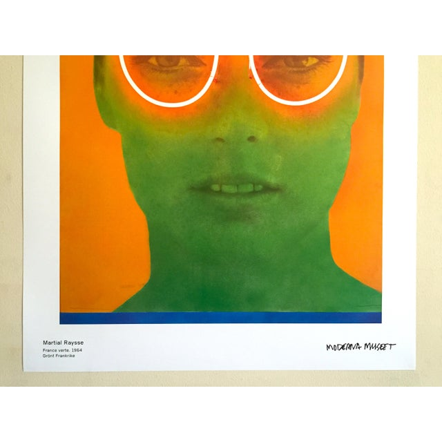 """French Martial Raysee Moderna Museet Stockholm Lithograph Print Pop Art Poster """" France Verte """" 1964 For Sale - Image 3 of 13"""