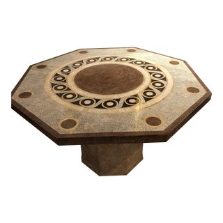 Inlaid Eggshell Hexagonal Table For Sale