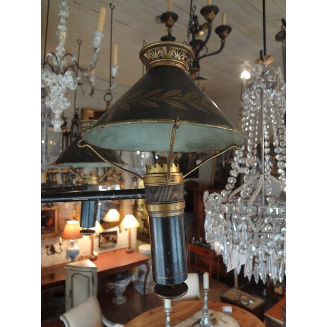 19th Century French Bronze Chandelier With Bonnets For Sale - Image 4 of 11