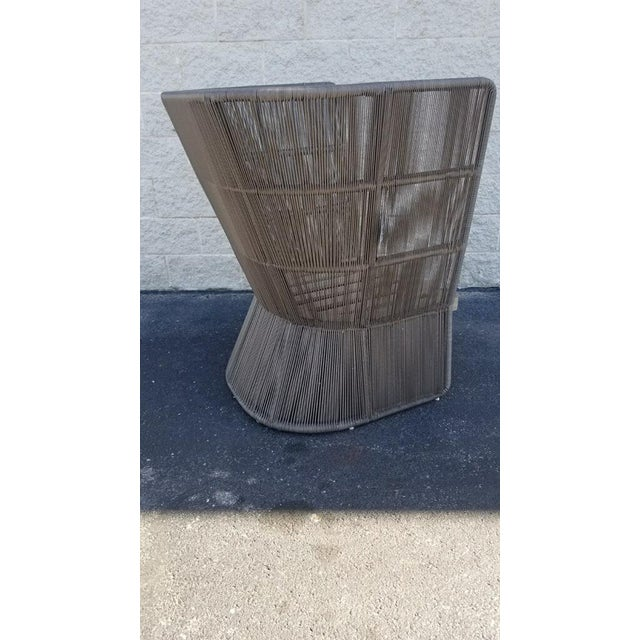 2010s Restoration Hardware Havana Fan Chair For Sale - Image 5 of 9
