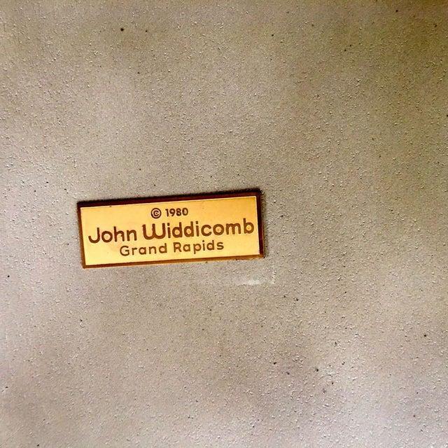 1980's Chinoiserie Custom John Widdicomb Mario Buatta Incised Phoenix Lamp Table For Sale - Image 11 of 12