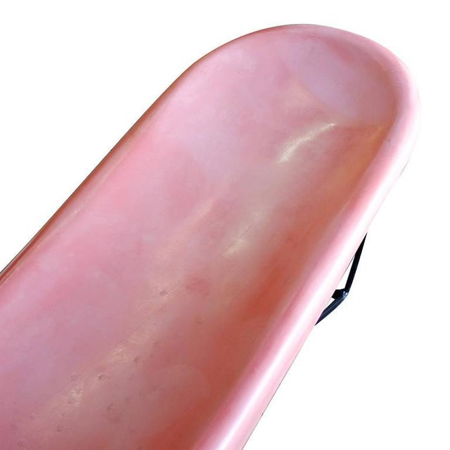 Mid-Century Pink Fibrella Pool Side Chaise Lounge by Le Barron - Image 6 of 7