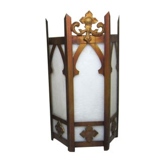 Single Gothic Brass Wall Sconce Light For Sale